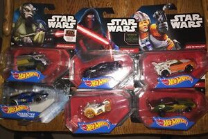Hot Wheels Star Wars Lot Kanan Zeb Bb-8 Skywalker Kylo Ren Jango Fett Garazeb