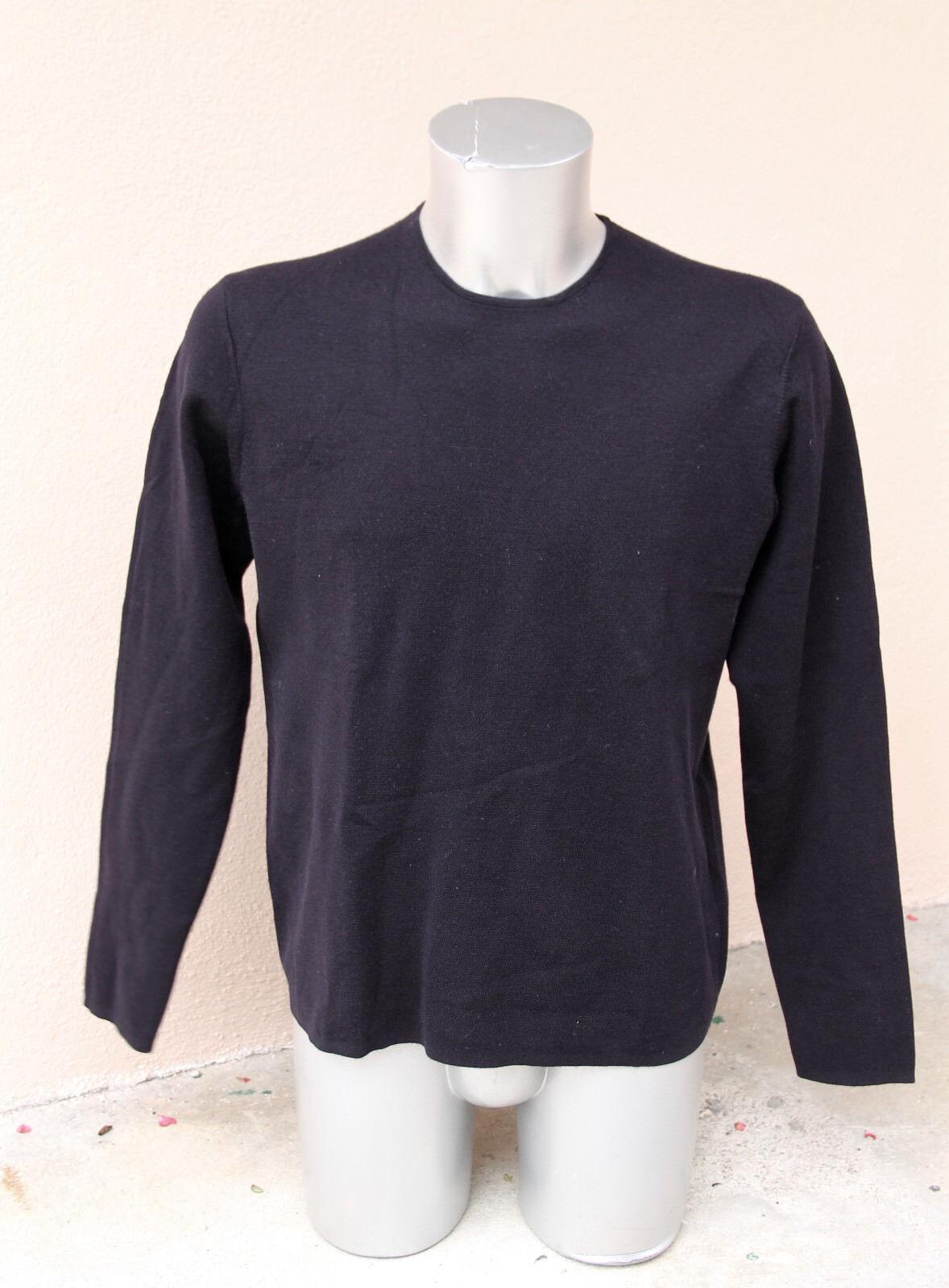 Lujoso suéter cuello ROTondo de lana elegante marina hombre COS talla L COMO