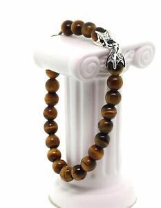 David-Yurman-Sterling-Silver-8mm-Tiger-039-s-Eye-Spiritual-Beads-Men-Bracelet-8-25-034