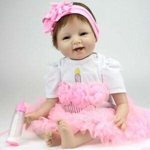 55cm-22-034-Reborn-Baby-Dolls-Soft-Silicone-Vinyl-RealLife-Lifelike-Girl-Toy-Gifts