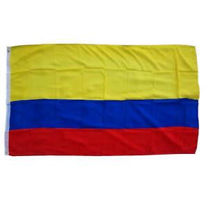Kolumbien Fahne Flagge mit Ösen 90 x 150cm EM WM 2022 Banner Fußball Fanartikel