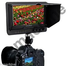 """Lilliput 7"""" 665GL-70NP/HO/Y 665/O HDMI IN OUT camera field Monitor+F970 adapter"""