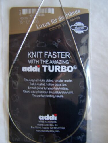 "Addi TURBO Circular Knitting Needles 16/"" Selected Sizes"