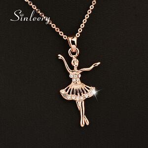 0e36aa97352c La imagen se está cargando Elegante-bailarina-de-ballet-collar-de-cristal -colgante-