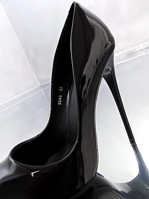 LACK HOHE Stiletto Pumps Luxus Elegant Schuhe VIP Damen Sexy O62 Schuhe Elegant High Heels 35 a3967e