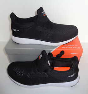 Red Tape Mens Running Black Memory Foam Gym Trainers Shoes New UK Size 9