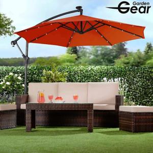 Jardín Solar LED Parasol Con Cubierta Terracota