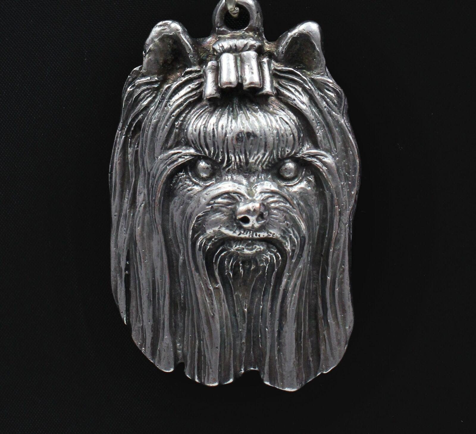 Yorkshire Terrier 2 - collana con un cane su una una una catena d'argentoo Art Dog IT 65c80f