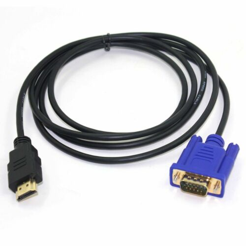 1,8M HDMI to VGA Male Laptop PC Projector Monitor Video Connection Lead Cable