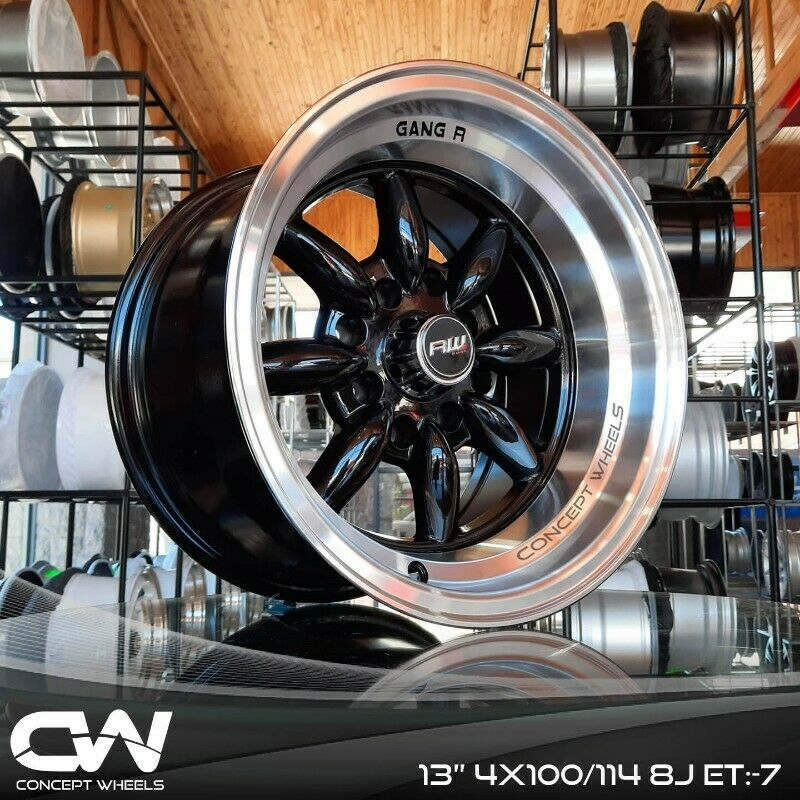 CONCEPT WHEELS 13 INCH RIMS 4/100/114 FOR NISSAN CHAMP AND GOLF 1,2,3 etc