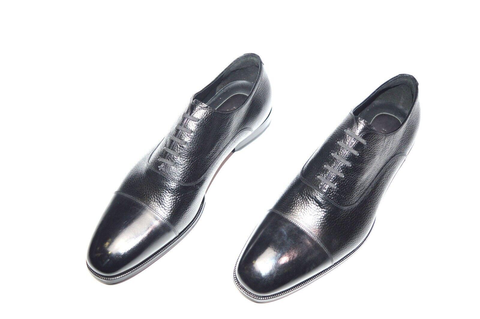 NEW STEFANO RICCI Leather  Luxury shoes Size Eu 42 Us 9 (Cod S717)