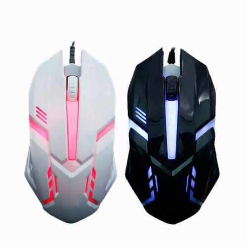 Wired USB Optical Gaming Colorful Light Mice Mouse For PC Laptop Desktop Gift EN