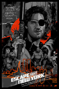 Escape From New York Poster.Escape From New York Movie Screen Print Poster 36 50 By Vance Kelly
