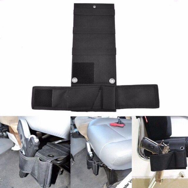 concealed under car seat wall mount closet gun handgun pistol