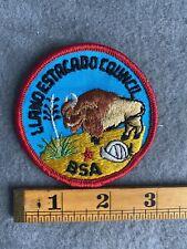 Oregon California -1950s CP Camp Vintage MODOC Area Council Boy Scout Badge 2 Round Patch