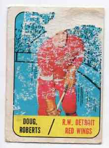 1X-DOUG-ROBERTS-1967-68-Topps-50-RC-Rookie-P-Detroit-Red-Wings