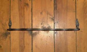 """18/"""" Twisted Wrought Iron Bath Towel Bar Forged by PCBS Glad to do custom work"""