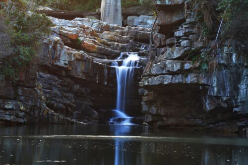 WATERFALL LANDSCAPE POSTER PRINT STYLE V 24x36 HI RES 9 MIL PAPER