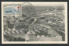Algerie MK 1952 CROCE ROSSA RED CROSS Bou Noura carte MAXIMUM CARD MC cm d638