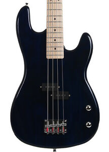 Blue Full Size 4 String Electric Bass Guitar Davison Demo Used 2nd Used Sale