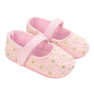 Baby Girls Princess Soft Sole Cloth Crib Shoes Infant Sneaker Toddler Footwear