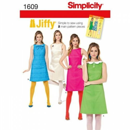 Misses/' Jiffy 1960/'s Vintage Dress Fabric Sewing Pattern 1609