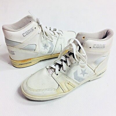 VINTAGE CONVERSE SHOES MENS SIZE 5 CONS HI TOPS BASKETBALL WHITE DEAD STOCK | eBay