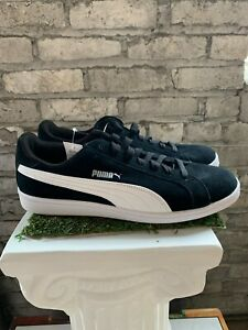 New-PUMA-Men-039-s-Suede-Smash-Sneakers-Casual-Shoes-Athletic-Black-White-Pick-Size