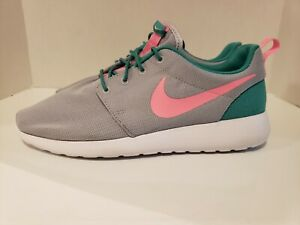 separation shoes 0fc4c a9d3a Image is loading NIKE-ROSHE-ONE-South-Beach-Watermelon-Gray-Green-