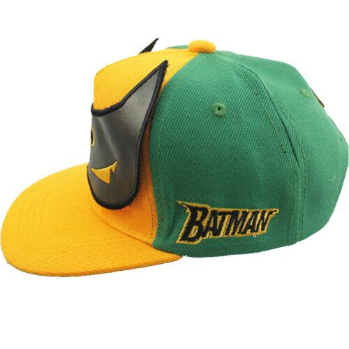 Toddler Boy Girl Batman Canvas Baseball Caps Kids Hip Hop Snapback Peaked Hats