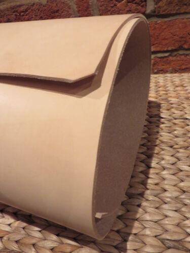 """60/"""" Strip natural Tooling Veg Cuero Tostado 3mm de espesor 6/""""x 55/"""" 2.8mm"""