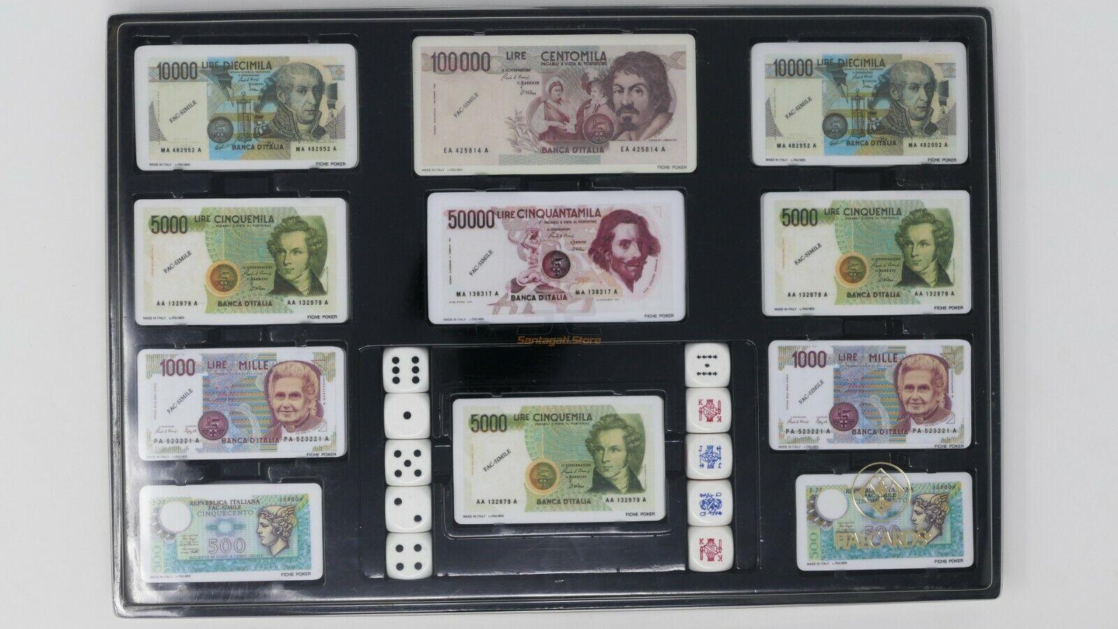 Set gioco Italautods  Fiches in Lire e dadi- Vintage  per poco costoso