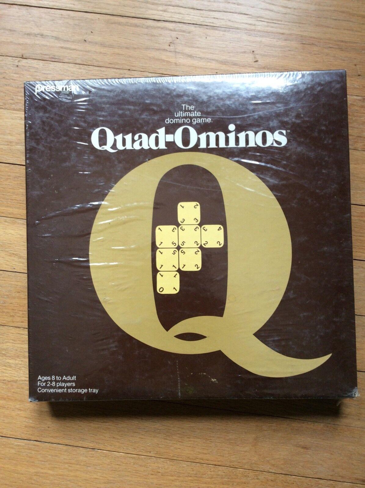Neue versiegelt quad-ominos ultimative domino fliesen brettspiel pressman 1978 quadominoes
