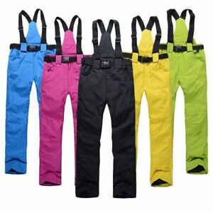 Women-Mens-Windproof-Overall-Ski-Snow-Pants-Insulated-Waterproof-new-Winter