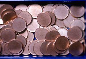 50 Pcs BLANK UNstruck ERROR BU Lincoln Cent PLANCHET 50 Coin Penny ROLL LOT   NR