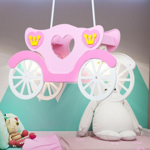 RGB LED Hänge Lampe Spiel Zimmer Decken Leuchte Prinzessin Kutsche FERNBEDIENUNG