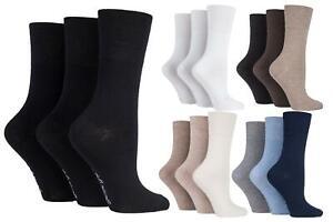 Mens-Ladies-Sock-Shop-Gentle-Grip-Non-Elastic-Loose-Top-Plain-Diabetic-Socks