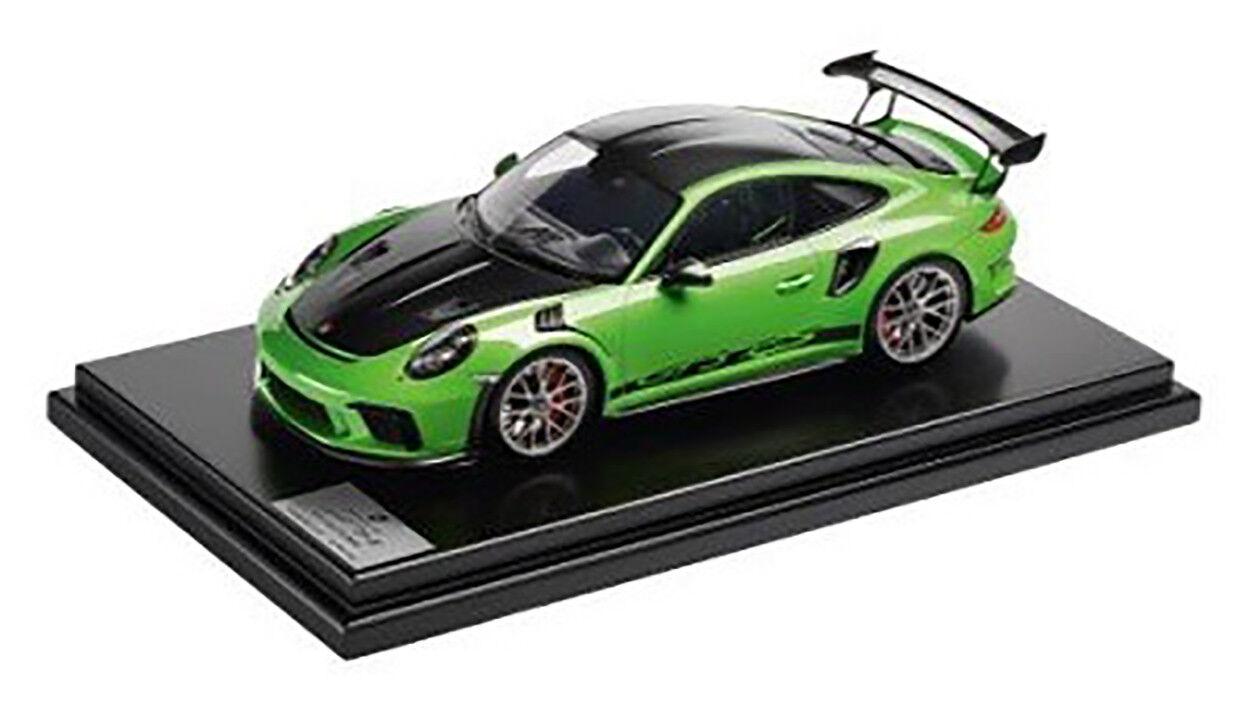 Spark Porsche 911 GT3 Rs 991 II Weissach Paquet Lezard Vert Noir 1 12 le 500