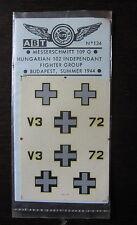 1/72 ABT DECAL N° 134 MESSERSCHMITT BF 109G HUNGARIAN 102 FIGHTER GROUP 1944