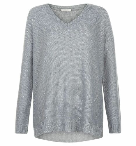Various Sizes RRP £89. Hobbs Constellation Soft Grey Sweater