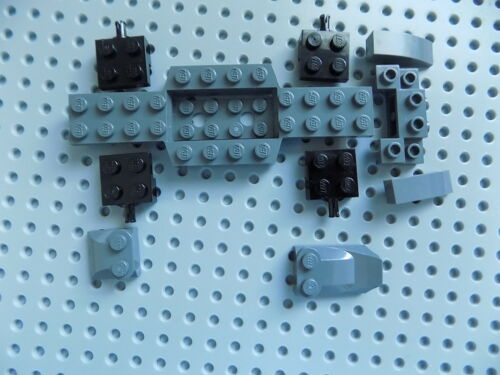 LEGO Car Builder lot Dark Bluish Gray Vehicle Base with specialty parts