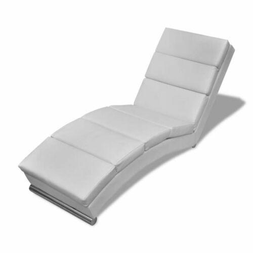 Relaxliege Chaiselongue Liegesessel Lounge Liege Ruhesessel Sessel Weiß C8R0