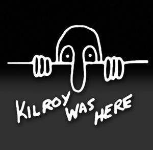 KILROY WAS HERE WORLD WAR 2 II WW2 WWII GRAPHIC DECAL STICKER ART CAR WALL DECOR