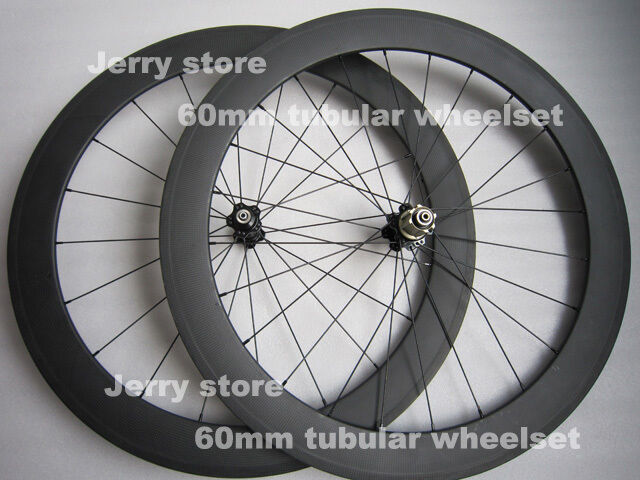 Carbon wheels  60mm tubular carbon bicycle parts 700C road wheelset  factory outlet
