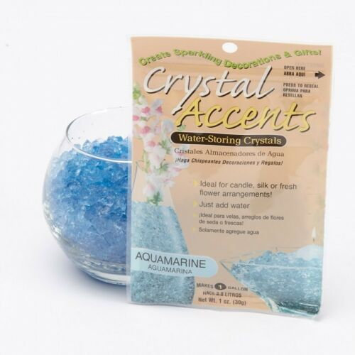 OASIS® CRYSTAL ACCENTS WATER STORING CRYSTALS IN 9 COLOURS.FLORAL FLORISTRY HOME