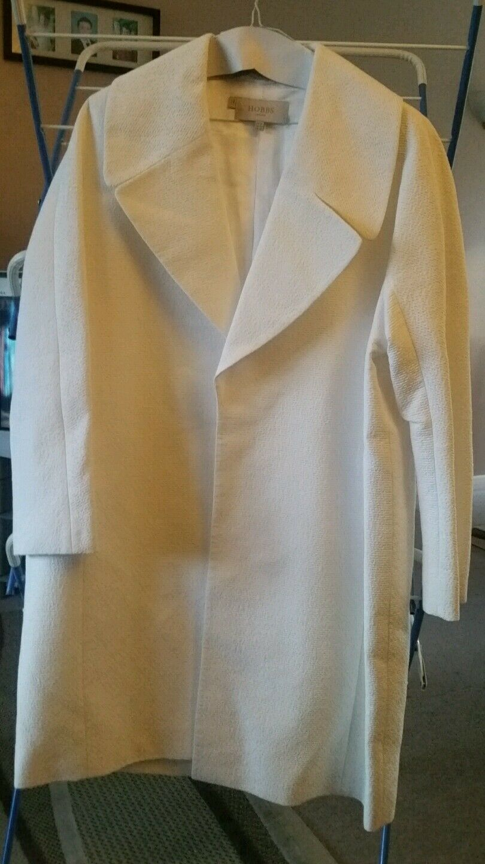 Ladies size 14 HOBBS cream coat