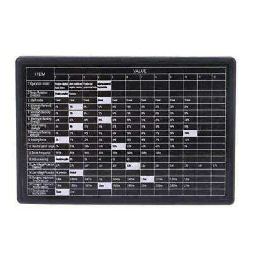 Car Program Card Electronic Speed Controller Programmer for RC Car Brushless ESC
