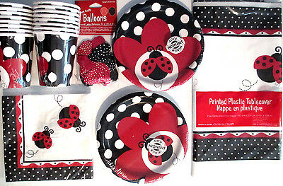 LADYBUG FANCY - Birthday Party Supplies Set Pack Kit w/ Balloons