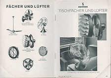 BERLIN-SIEMENSSTADT, Prospekt 1936 Siemens-Schuckertwerke AG Tisch-Fächer-Lüfter