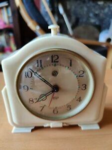Vintage Smiths SECTRIC Bakelite Cased Mantel Clock - Working
